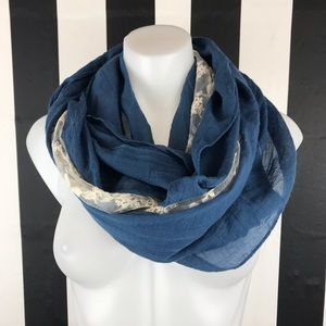 Free People Blue Lace Insert Infinity Scarf